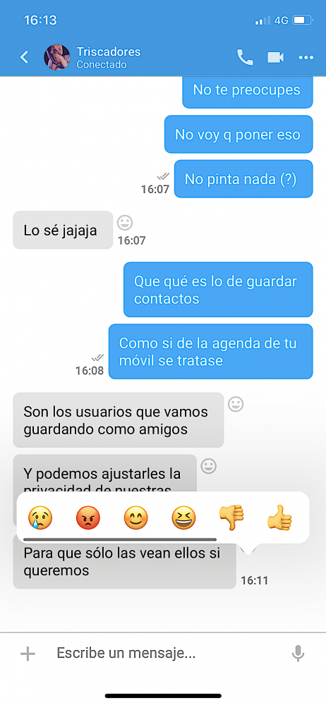 Reacciones y citas a mensajes
