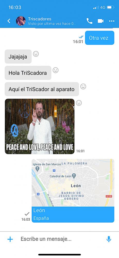 Cómo se ve el chat en TriSapp