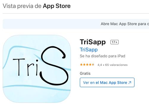 Valoraciones de TriSapp en App Store